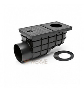 Дождеприемник пластиковый MCH 325 G з горизонтальним подключением D110 – стандарт