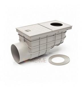 Дождеприемник пластиковый MCH 325 Gs с горизонтальным подключением D110 - стандарт