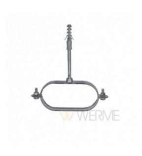 Овальный подвес для труб DN25 125x63 толщина изоляции 14mm