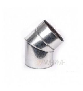Колено 45° н/оц 1мм сталь AISI 304